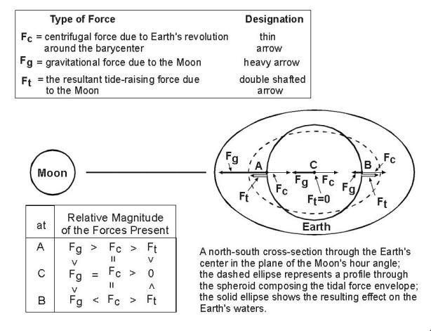 Tidal forces diagram
