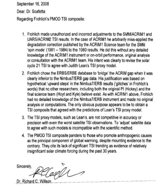 ACRIM letter
