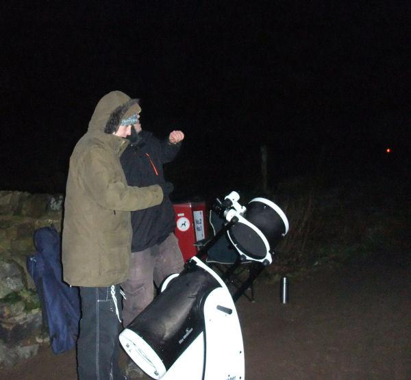 Johnny and Rob hunting for the Andromeda Nebula