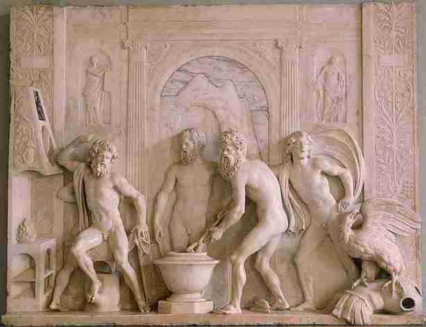 The Forge of Vulcan by Lombardo -The hermitage, St Petersburg- (I hope health and safety aren't looking)