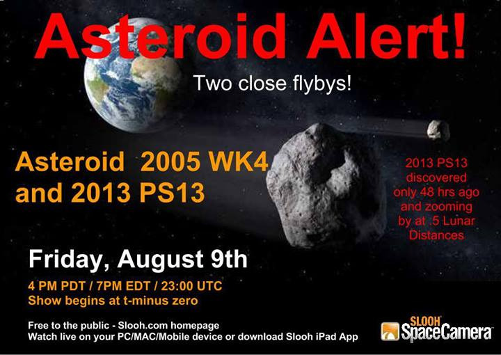 Newly discovered asteroid 2013PS13 shadowing 2005WK4 ...