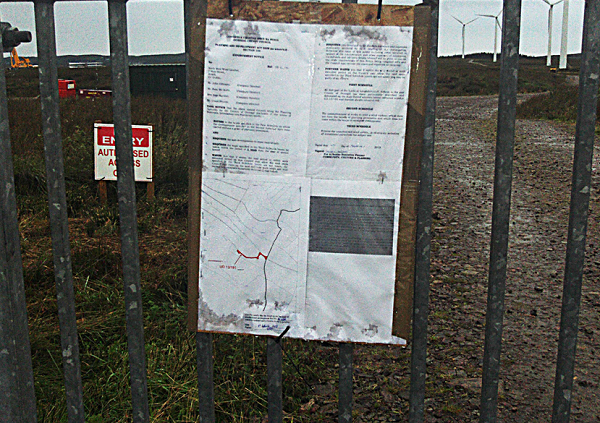 Enforcement notice served on Loughderry windfarm by the local council