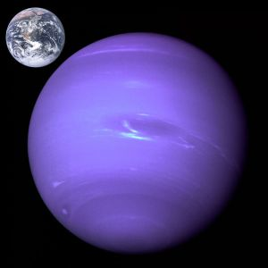 Neptune - Earth comparison [credit: Wikipedia]