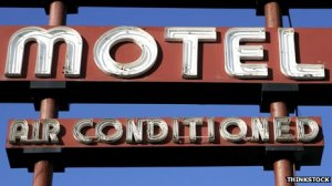 Air conditioning sign  [image credit: BBC]