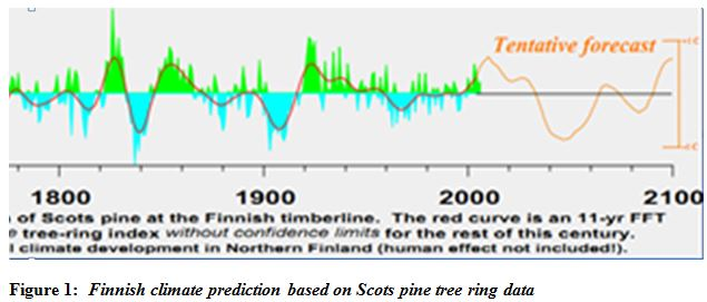 global cooling forecast tree ring analysis projections Finnish