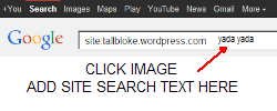 Specific Talkshop Google site search