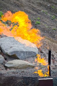 Natural gas flare {credit: Wikipedia]