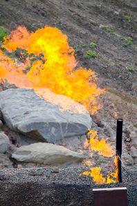 Natural gas flare {credit: Wikipedia]