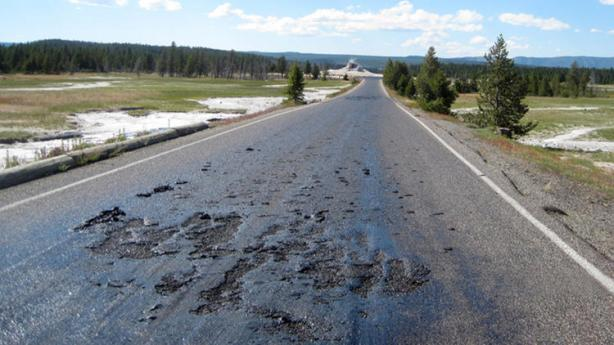 yellowstone-melted-road