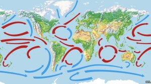 Ocean currents [image credit: BBC]