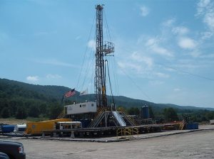 Gas drilling rig [image credit BBC]