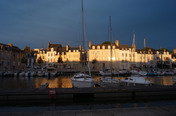 Evening light at Vannes harbour - South Brittany