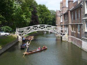 Cambridge University punting - Mathematicians' bridge  [credit: Wikipedia]