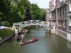 Cambridge University punting - Mathematicians' bridge  [credit: Wikipedia]