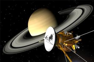 Cassini probe at Saturn [credit: NASA]