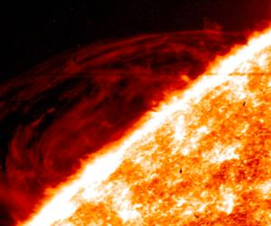A solar 'prominence' [credit: NASA]