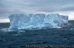Tabular iceberg in the Weddell Sea [credit: British Antarctic Survey]