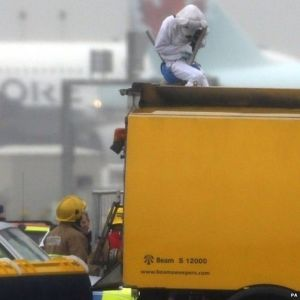 Heathrow pantomime [image credit: BBC]