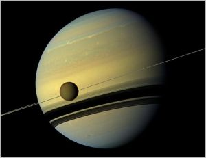 Saturn's moon Titan [image credit: NASA - Cassini]