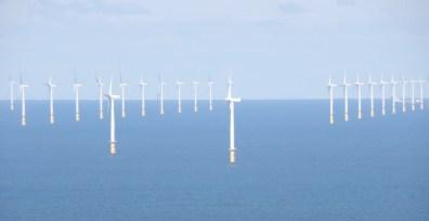 North Wales coast wind turbines