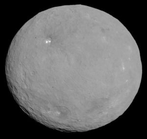 This image of Ceres is part of a sequence taken by NASA's Dawn spacecraft on May 5 and 6, 2015, from a distance of 8,400 miles (13,600 kilometers)