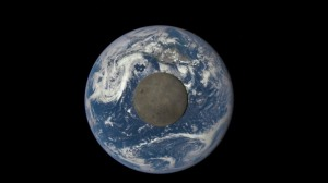 The Moon in front of Earth [credit: NASA]