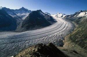 The Aletsch Glacier in Switzerland [image credit: ESA]