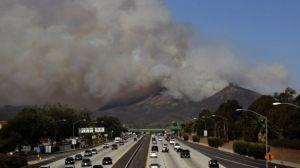 Smoke from a California wildfire [image credit: BBC]