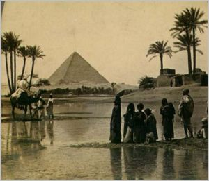 Great Pyramid of Giza from a 19th-century stereopticon card photo [credit: Wikipedia]