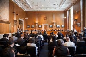 A Senate hearing