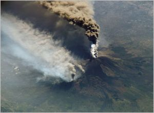 Etna's 2002 eruption, photographed from the ISS  [image credit: NASA]