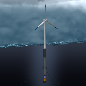 Floating wind turbine [image credit: greenunivers.com]