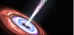Intense X-ray flares thought to be caused by a black hole devouring a star [credit: NASA]