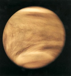 Ultraviolet image of Venus' clouds [credit: NASA]