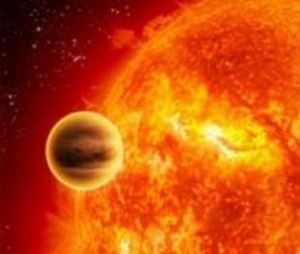 An artist's image of a hot-Jupiter exoplanet [credit: NASA]