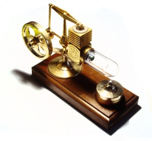 Stirling engine model  [image credit: Wikipedia]