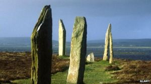 Brodgar standing stones, Orkney [image credit: BBC]