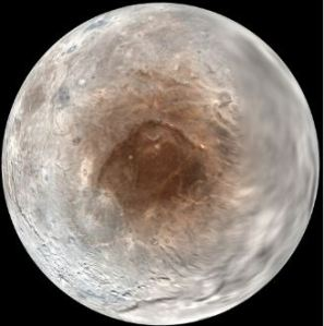 Charon's 'red spot' [image credit: space.com]