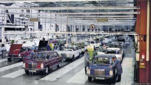 Daimler-Benz production lines [image credit: BBC]