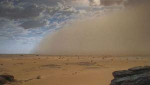 Saharan dust storm [image credit: BBC]