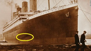 Titanic: was this dark mark due to excessive heat from the boiler room?  - asks TV prog.