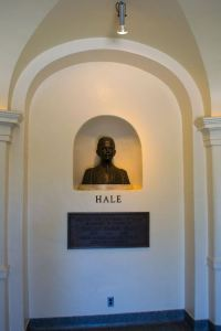 A bust of George Ellery Hale at Palomar Observatory [image credit: Visitor 7 / Wikipedia]