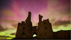 Northern Lights illuminate sky over UK [image credit: BBC]