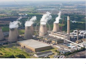 Note the output from the cooling towers is NOT black - no trick photography here.