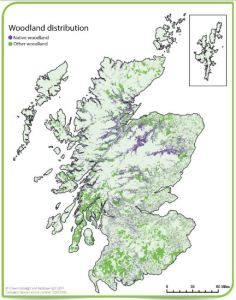 Map of Scottish woodlands