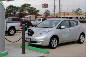 Electric car charging station [credit: Wikipedia]