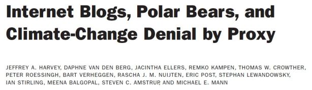 Harvey et al. 2018 in press climate denial by proxy using polar bears_Title