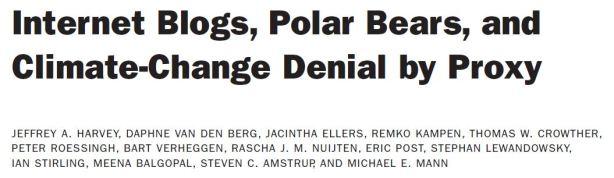 Harvey et al. 2018 in press climate denial by proxy using polar bears_Title