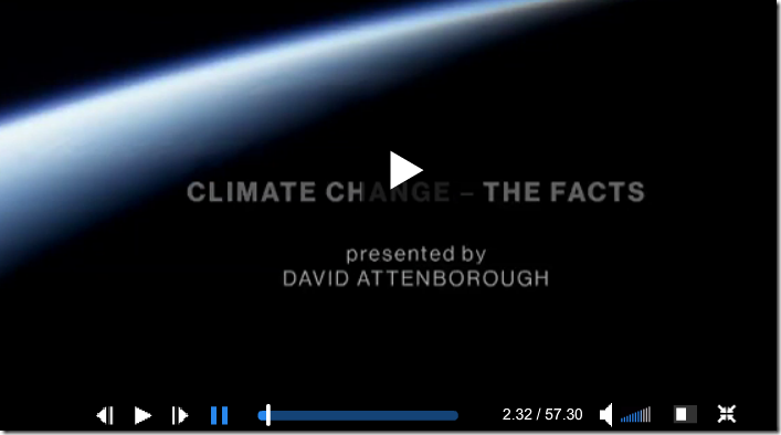 "Attenborough's ""Climate Change–The Facts 